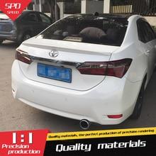 Для Toyota Corolla Спойлер ABS Материал заднее крыло грунтовка цвет задний спойлер для Toyota Corolla спойлер
