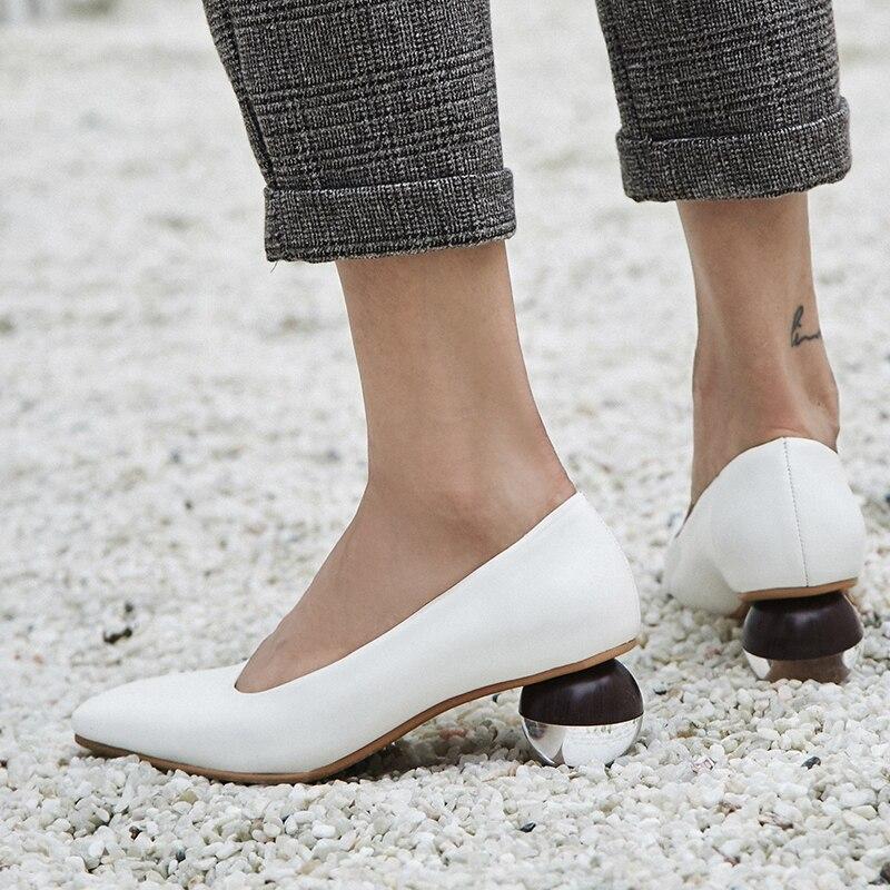 ASILETO Women genuine leather shoes Kid suede Strange style ladies high heel pumps High quality women