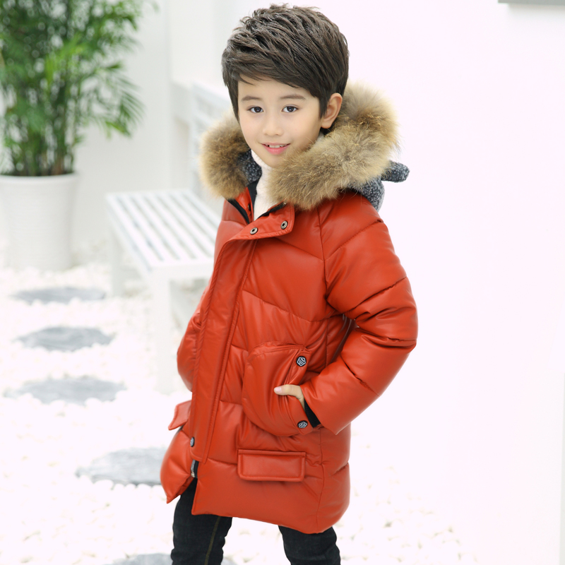 Kids Winter Jacket For Boys Clothes Teenage Boys Clothing Parkas Warm Jacket Hooded Cotton Down Coats Real Natural Fur Snowsuit winter cotton jacket hooded coats women clothing down cotton parkas lady overcoat plus size medium long solid warm jacket female