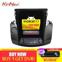 KiriNavi Vertical Screen Tesla Style Android 7.1 10.4 Inch Car Radio For Toyota Rav4 Gps Navigation Multimedia player 2006 2012