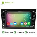 Quad Core Android 5.1.1 1024*600 Coches Reproductor de DVD de Radio de Audio Pantalla estéreo Para Opel Vectra Zafira Corsa Tigra Astra Combo Antara