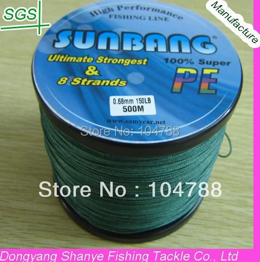 Free shipping 8 Strands 130/150/180LB  500M Multifilament Braide Fishing Line Spectra Braid Fishing Line --SUNBANG