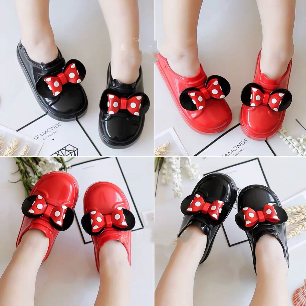Mini Melissa Mickey Ear Bow Boy Girl Sandals 2020 New Jelly Sandals Kids Sandals Children Beach Shoes Non-slip Toddler Shoes