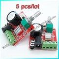 O envio gratuito de 5 pçs/lote DC 12 V Mini Amplificador Board 10 W + 10 W Classe D Amplificador