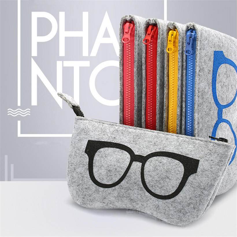 YOOSKE High Quality Felt Cloth Sunglasses Boxes Unisex Luxury Fabric Glasses Case Men Women Fashion Eyeglasses Accessories