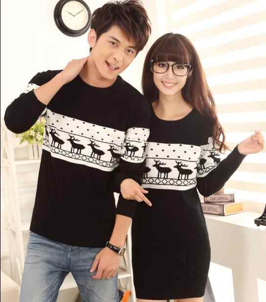 2f12a979d8 ... Top Quality christmas sweater for men and women couples matching  christmas sweaters for lovers couple Christmas ...