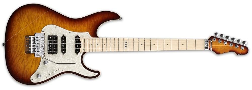 New Custom ST 1 TEA SUNBURST Guitar tremolo Bridge electric guitar
