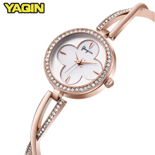 Купить с кэшбэком YAQIN New Fashion Luxury Women Quartz watch women stainless steel bracelet watch women watch Montre Femme Relogio Feminino