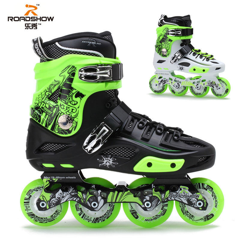 Professionales Road Show RX4 Roller Skates Four Wheel Skates Inline Skates Ice Hockey Skates For Adulto new year designer army green suede lace up high heel boots thick square heel open toe lace up strappy ankle motorcycle boots