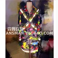 HOT 2016 New Men singer rights Zhi- Long GD long sleeve trench coat fluorescent camouflage uniforms nightclub costumes clothing