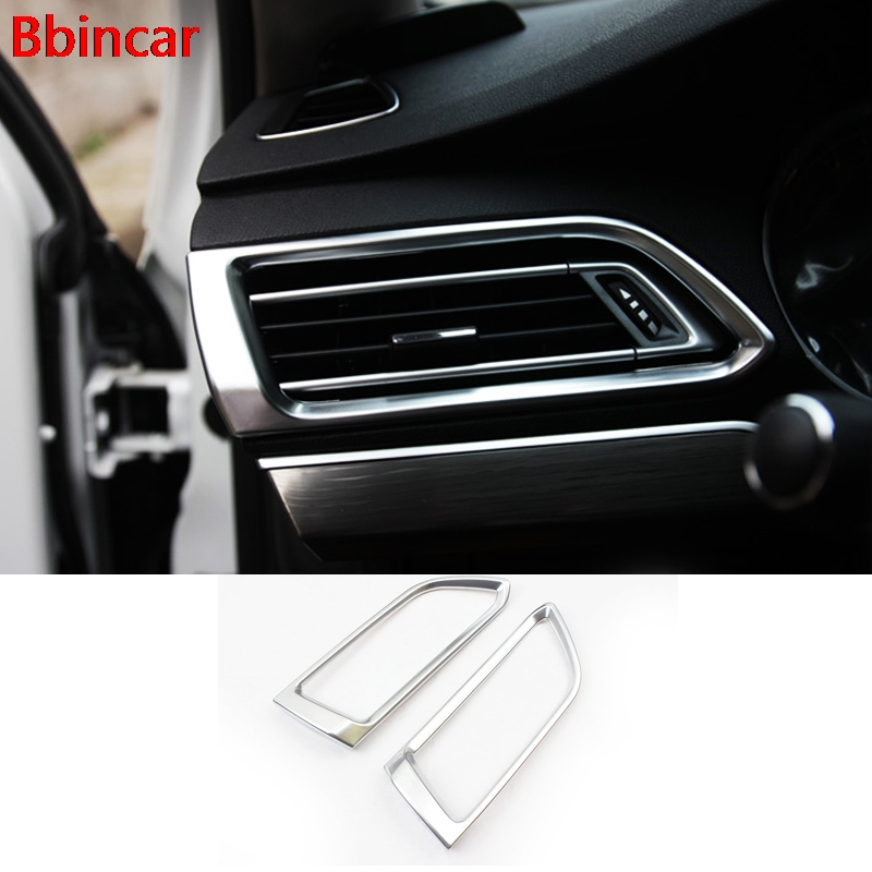 Air-conditioning Outlet Cover For <font><b>Peugeot</b></font> <font><b>308</b></font> Hatchback 2014 <font><b>2015</b></font> 2016 Second Generation T9 <font><b>SW</b></font> Rear View 5Door Stainless Steel image