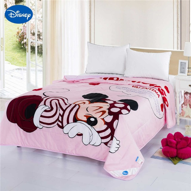 Sue o rosa minnie mouse verano edredones edredones ni os ni as disney personaje ropa de cama - Telas para colchas infantiles ...