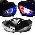 Para Yamaha YZF r25 R3 yzf-r25 yzf-r3 Faros motocicleta Accesorios faro Ángel demonio HID 2013-2017