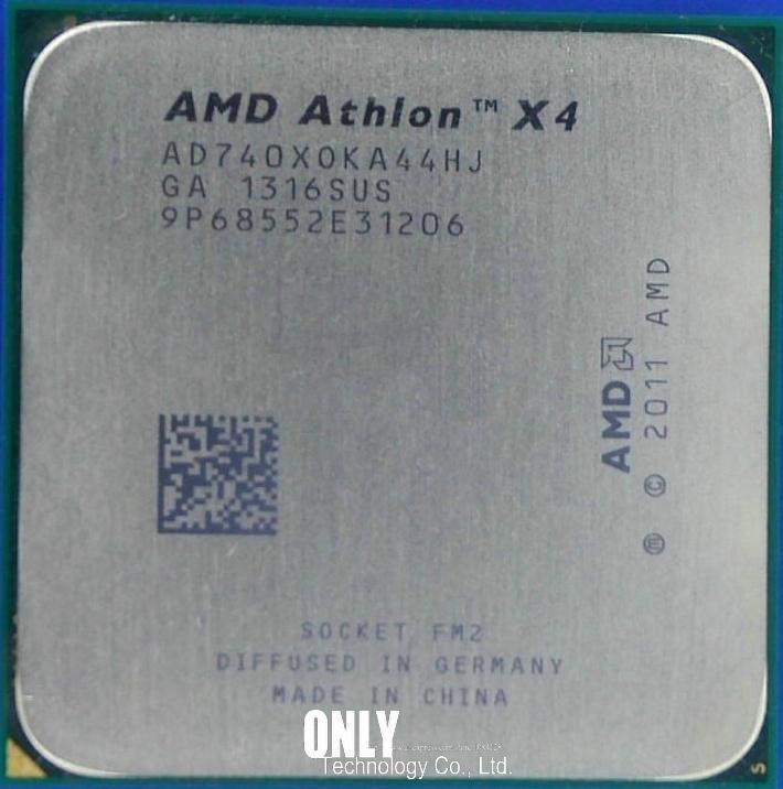 AMD Athlon X4 740 X740 FM2 Quad-Core CPU 100% Working Properly Desktop Processor