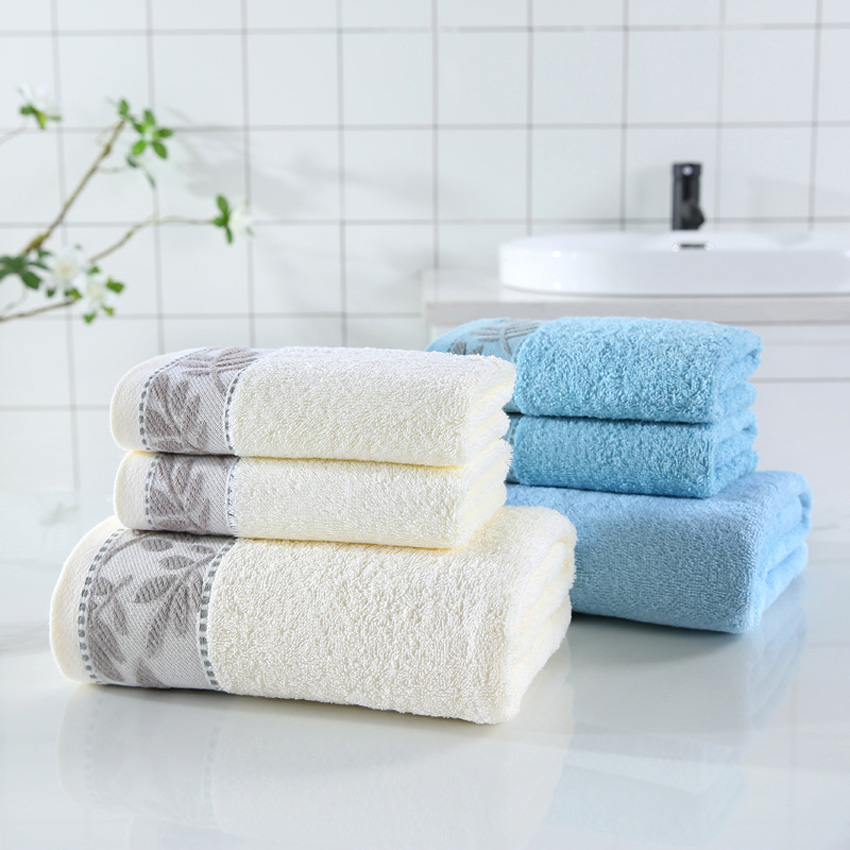 Cotton Colorful Striped Absorbent Bathroom Face Towel Bath Towel Quick-Drying