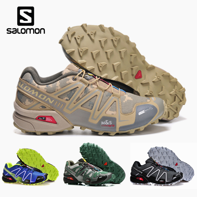 6d3e29d9d8ba Salomon Speed Cross 3 CS Men Outdoor Sport Shoes Breathable Sneakers  zapatillas Hombre Male Speedcross 3 running Shoes