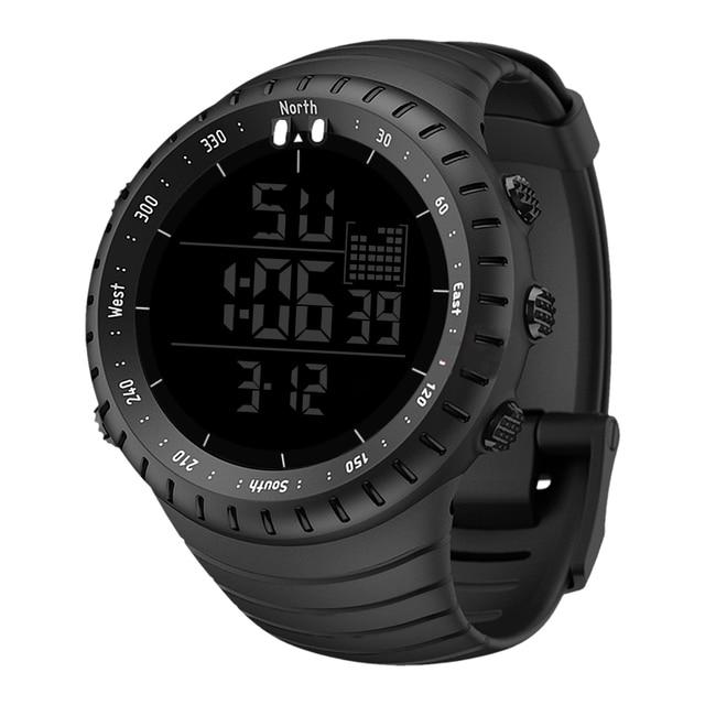 Fashionmen החדש של יוקרה ספורט שעון גברים דיגיטלי LED עמיד למים חיצוני שמלת שעונים כרונו ספירה לאחור זמן כפול שעוני יד