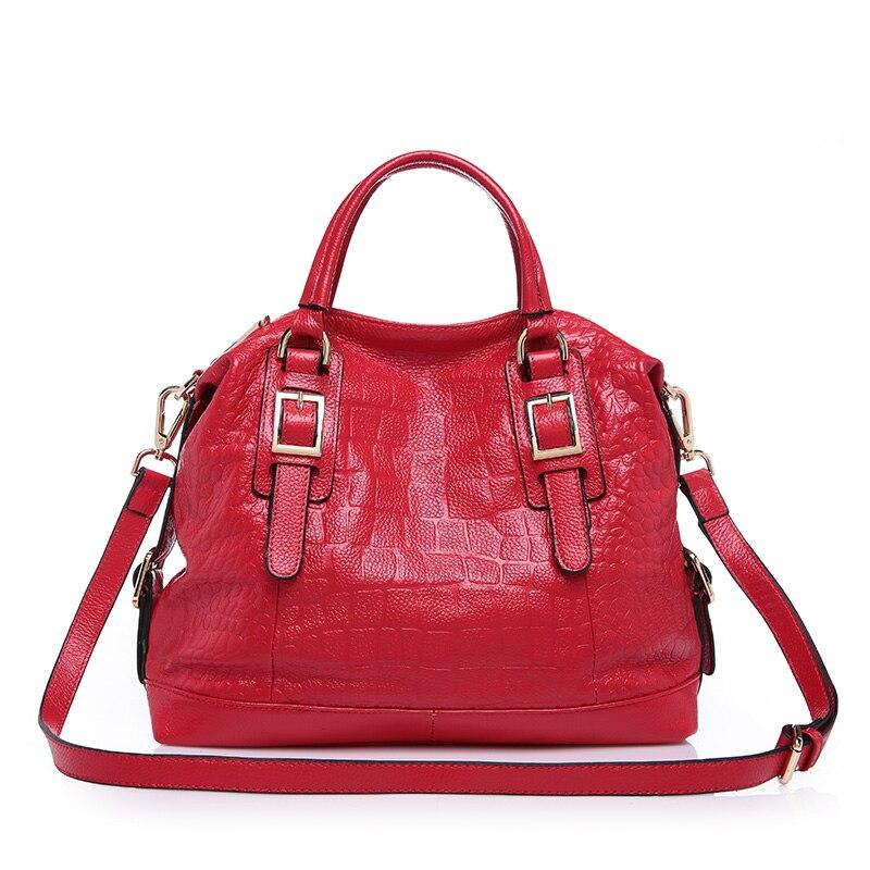 ФОТО European and American Style women bag  Crocodile Grain  Simple leisure genuine leather  handbag