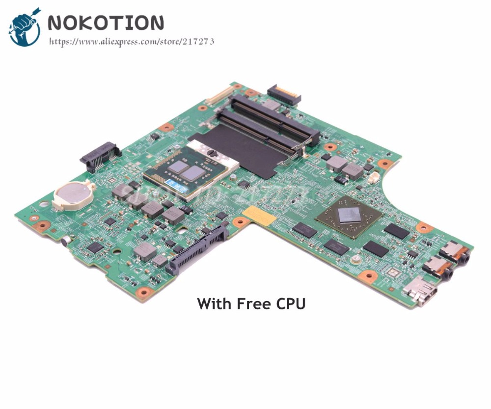 NOKOTION CN-0K2WFF 0K2WFF For Dell Inspiron 15R N5010 Laptop Motherboard 48.4HH01.011 HM57 DDR3 HD4650 GPU Free CPU nokotion for dell inspiron m301z n301z laptop motherboard cn 0f1x70 0f1x70 hm57 i3 330um cpu ddr3 hd5430 video card