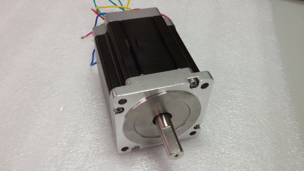 2 Phase Nema 34 Stepper Motor 6A 1.8 degree Motors 8.2NM/ 1171oz.in 114mm Motor for CNC Engraving machine vending machine parts 1 sets motor cables for 60 pieces motors