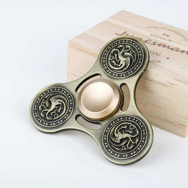 Game Of Thrones 2017 New Fidget Toy Hand Spinner Three Dragon Metal Finger Stress Tri Spinner Action & Toy Figures