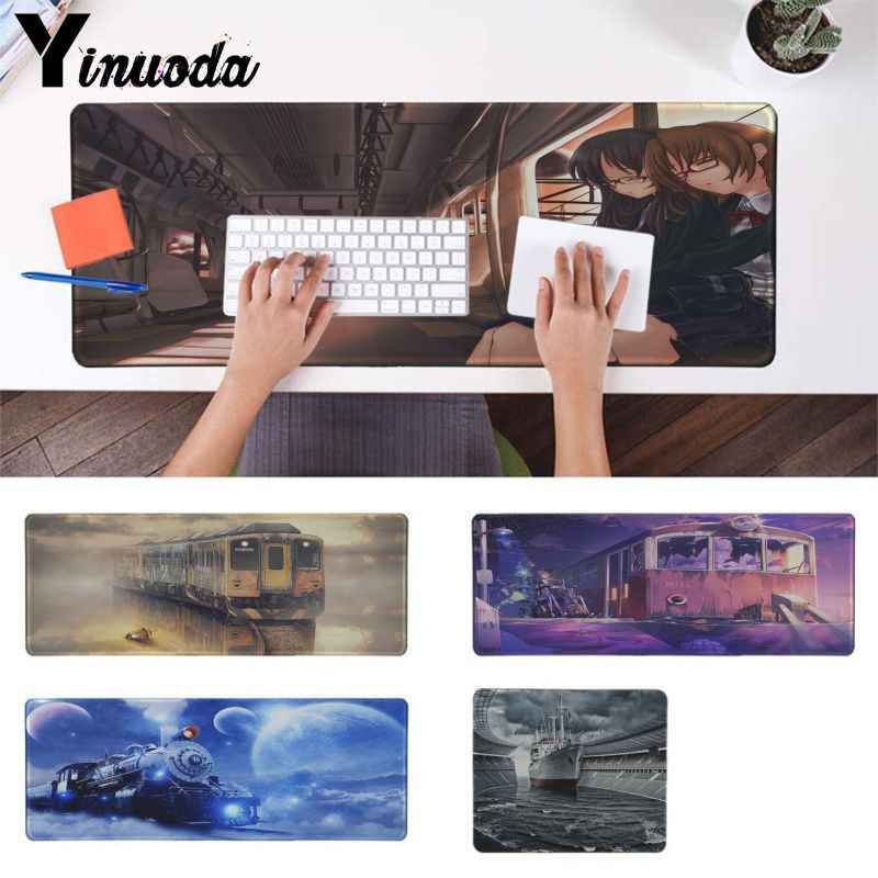 Yinuoda 2018 New Vehicle train and ship Gamer Speed Mice Retail Small Rubber Mousepad Speed/Control Version Large Gaming Pad