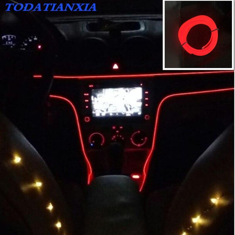 Car Decoration LED Strip Light Neon Light for citroen c4 renault megane 3  bmw e91 golf mk4 honda hornet 600 volkswagen polo