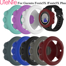 Soft silicone protective case for Garmin fenix 5X/ 5X Plus sports watch cases with dust plug protection accessories