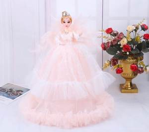 New Girl Toy Wedding Doll Mini Doll Deam Princess Evening Party Clothes Wears Long Dress Set Child Birthday Present Girl's Gift