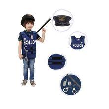 Костюм суперполицейского для мальчиков; жилет полицейского для костюмированной вечеринки; нарядный маскарадный костюм; Карнавальная детская одежда для выступлений с реквизитами