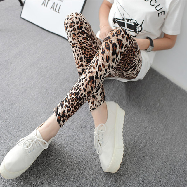 Summer New Fashion Euramerican Gothic Black Milk Leopard Leggings Punk Rock Style Sexy Leggings Pants For Women