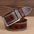 Mens Genuine Leather Belt Line Black Buckle Designer Men High Quality Casual Brown Belts Style Brand Luxury Strap For Pants 2017