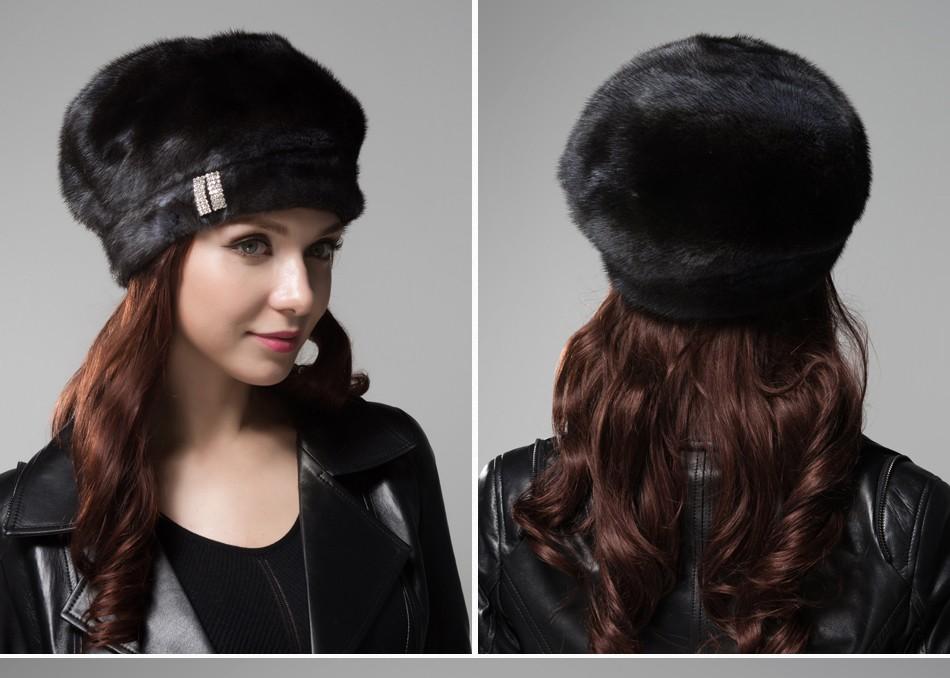 mink fur hat female winter PCM027 (16)