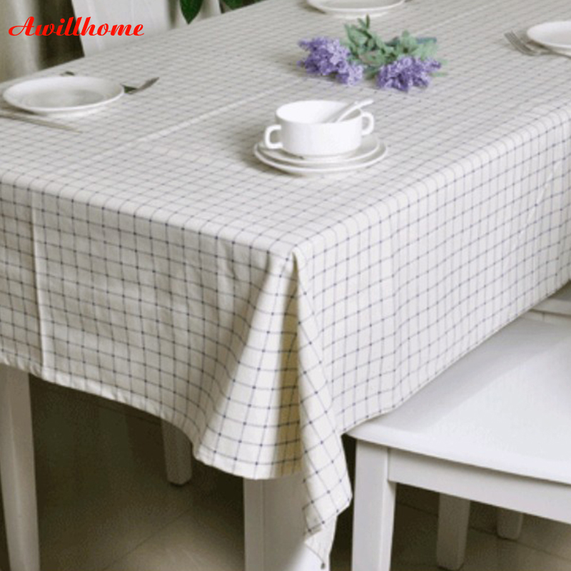 Dining Room Tablecloths: Awillhome 11Size White Modern Tablecloths Home Rectangle