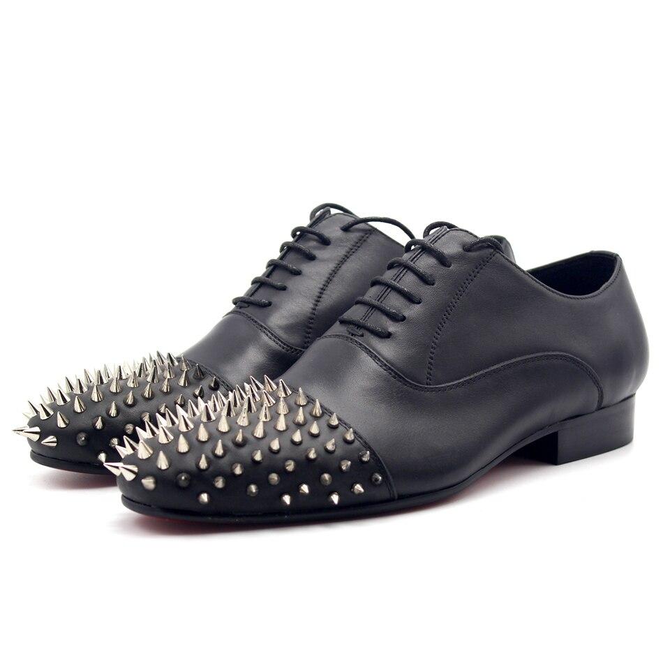 Fashion Hot 2018 Top Quality Spike Rivets Formal Business Shoes Flat heel Mens Dress ShoesFashion Hot 2018 Top Quality Spike Rivets Formal Business Shoes Flat heel Mens Dress Shoes