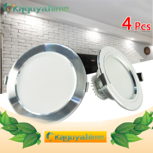 цены Ultra Bright LED Downlight 3w 5w 10w 12w 15w 18w Silver White Round Recessed Spot Light LED Ceiling Lamp AC 85~265V DownLight