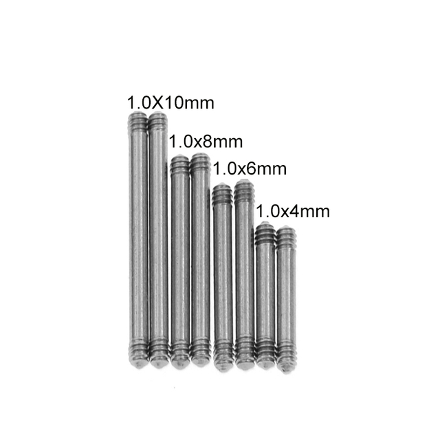 10Pcs 18G steel Piercing Contect Straight Barbell Part Screw Thread Head 16g 14g For Lip Eyebrow Nose Earring Piercing Jewelry 1
