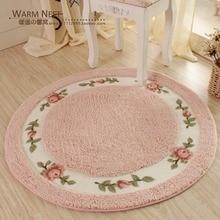HUAMAO пасторальный Цветочный Коврик для двери мягкий плюшевый круглый вращающийся стул коврик для пола современный коврик для ванной комнаты детский игровой коврик/коврики