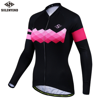 Siilenyond 2019 Pro Women Winter Thermal Cycling Jersey Long Sleeve Mountain Bike Cycling Clothing MTB Bicycle Cycling Clothes