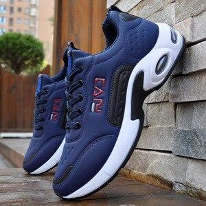 Image 4 - 秋男性スニーカー通気性作業靴、カジュアルスポーツの靴屋外ウォーキングシューズエアクッション男性の靴zapatosやつsapatos