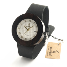 BOBO BIRD C02 Wooden Watches for Women Designer Luxury Ebony Wooden Watch with Calendar Dial Japanses Movement Quartz Watches