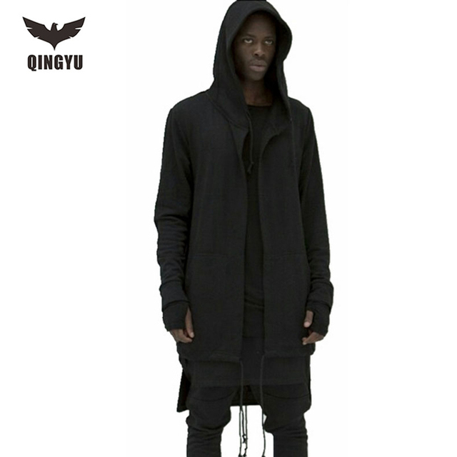 2017 Hoodies Men Sudaderas Hombre Hip Hop Mens Brand Hooded Cloak Cape Cardigan Hoodie Sweatshirt  Suit Slim Fit GBDS