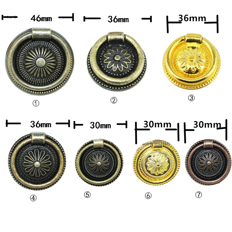 Vintage Zinc Alloy Handle Flower Knobs and Handles Furniture Door Handle Cupboard Drawer Kitchen Pull Knob,Bronze Tone,1PC 6pcs bronze chinese door handle wardrobe handle kitchen knobs cabinet hardware vintage handles decorative knob asas para cajones