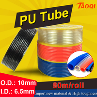 80m/Roll PU tube 10*6.5mm Air Pipe Pneumatic Hose Polyurethane OD 10mm ID 6.5mm for Compressor high quality Pneumatic parts