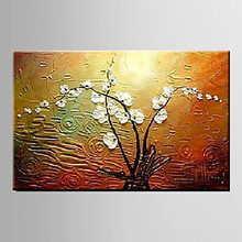 Handmade Modern Magnolia Denudata Floral Oil Painting Living Room Flower Knife Oil Painting on Canvas Wall Art for Home Decor
