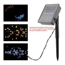LED String Light Solar Powered 50LED String Lights with 8 Lighting Modes Home Garden Party Lamp Decoration(China)