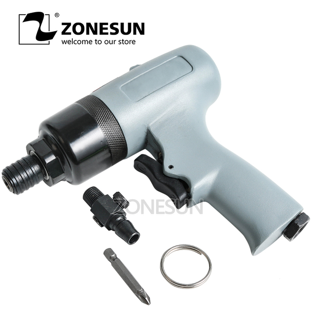 ZONESUN R-7220 10mm Pneumatic tools air tools Air Screwdriver strong powerful tools double hammer air Impact Wrench gun style
