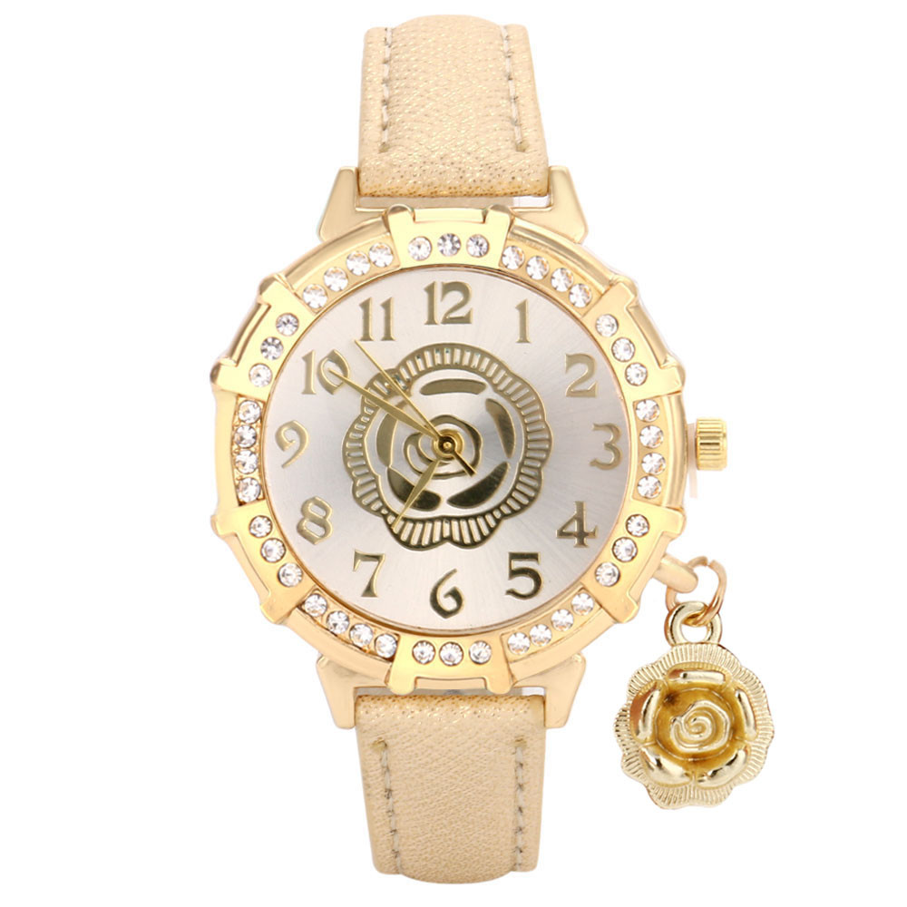New Women Quartz Wrist Roses Tower Rhinestone Pendant Wrist Watch for dropship adjustable wrist and forearm splint external fixed support wrist brace fixing orthosisfit for men and women