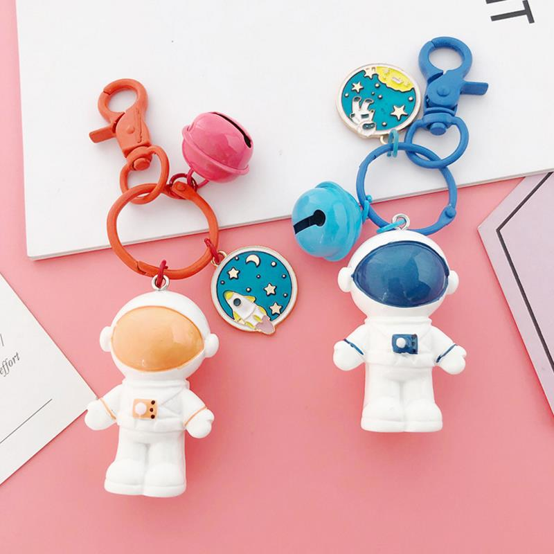 1Pc new Creative high quality Astronaut Small bell keychain bag Pendant Action Figures Toy Models Collection Toys gift