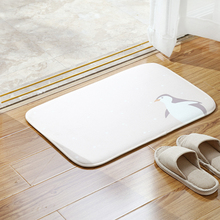 050 Fashion Cartoon design kitchen and bathroom anti slip absorbent PVC sponge floor mat 60*40cm